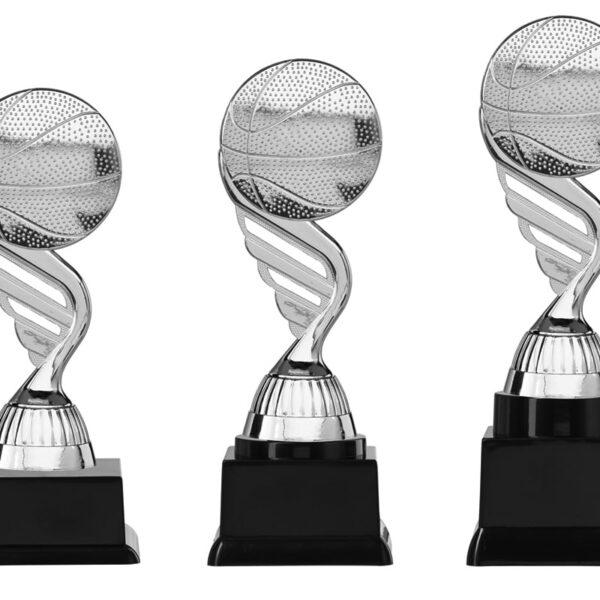 Basketbal beker zilver