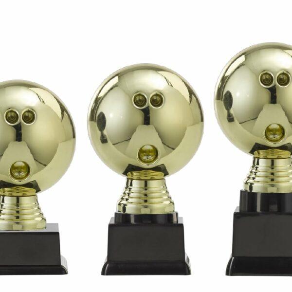 Bowlingbal beker goud