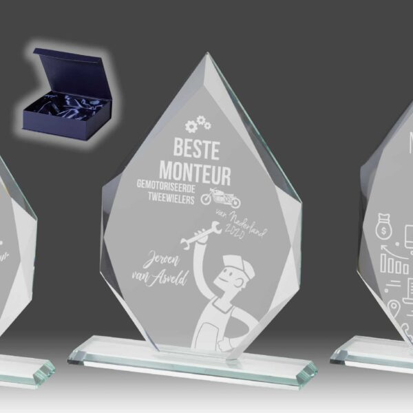 B353 – glazen award