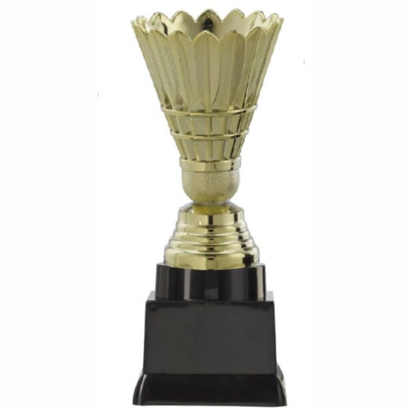 badminton beker goud