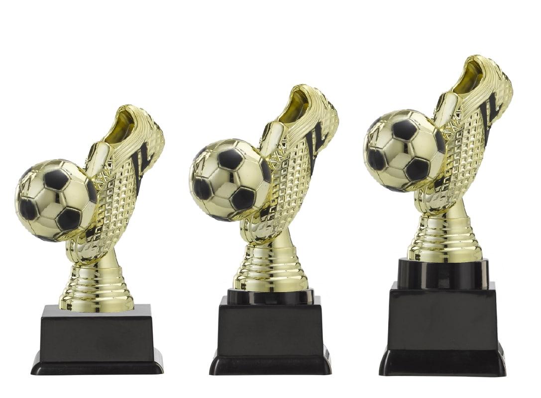 voetbal bekers goud