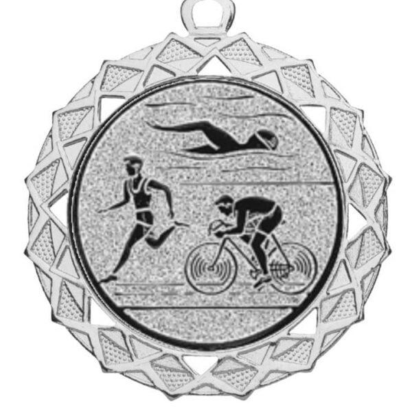 triathlon medaille zilver